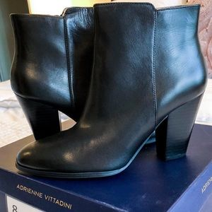 Adrienne Vittadini Leather Booties